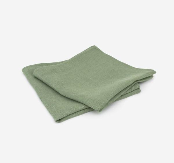 linen and stripes napkin green1