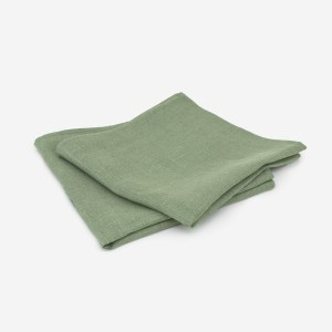 linen and stripes napkin green1