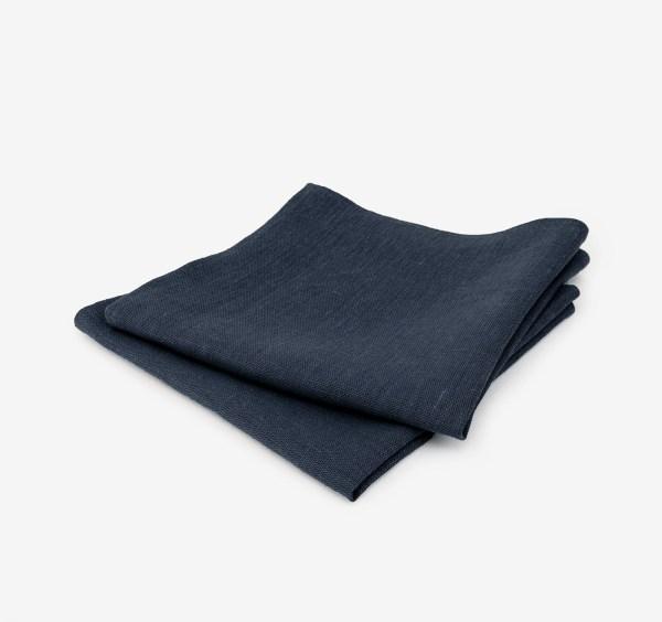 linen and stripes napkin navy1