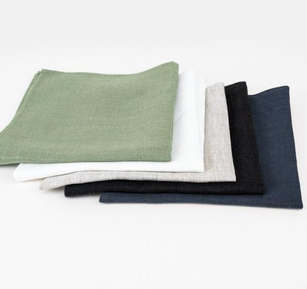 linen and stripes napkin navy5