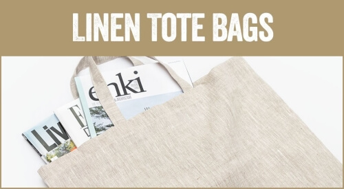 linen and stripes category tote bags