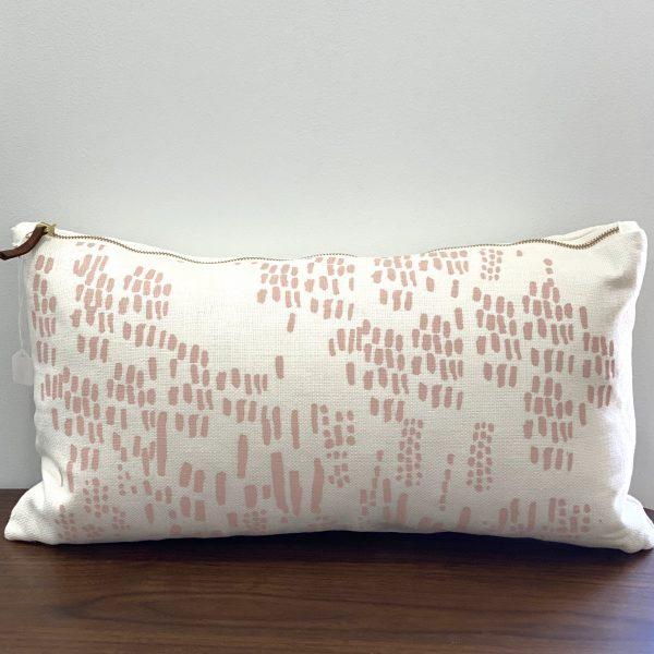 "Erin Flett - 10"" x 20"" Blush Rain Lumbar Pillow"
