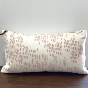 "Erin Flett - 10"" x 20"" Blush Rain Lumbar Pillow"