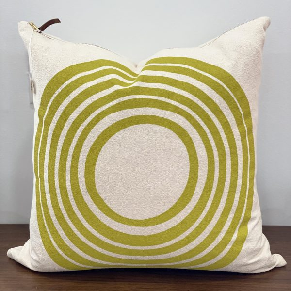 "Erin Flett - 20"" X 20"" Sun Off White Bark Cloth Pillow"