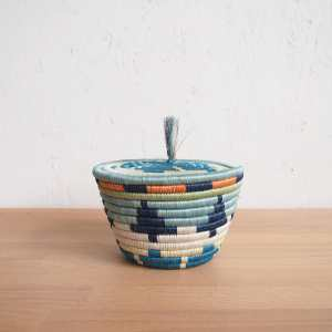 Amsha - Mwangaza Mini Lidded Basket