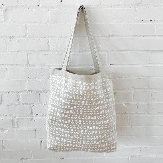 Erin Flett - White Scandi Linen Carry All Bag