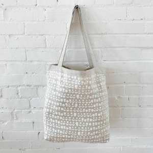 Erin Flett - White Scandi Linen Carry All Bag