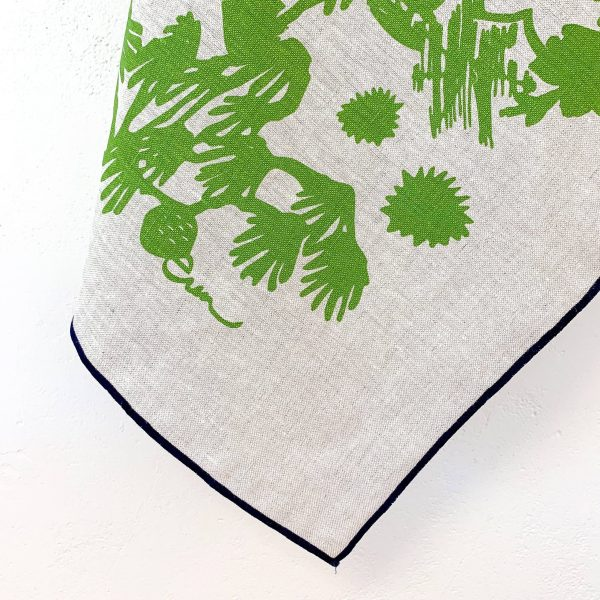 Erin Flett - Evergreen Deep Woods Oatmeal Linen Tea Towel