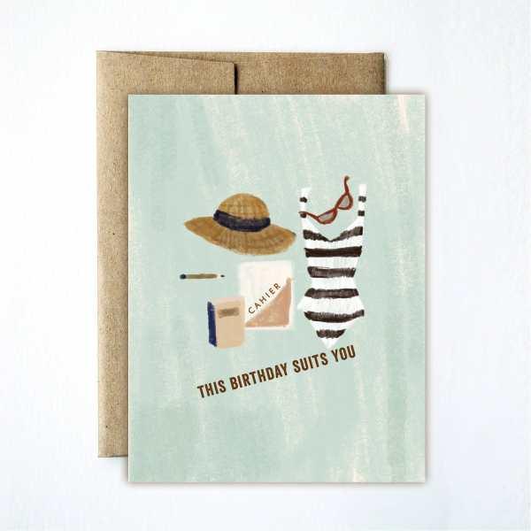 Ferme à Papier - Birthday Suits You Card
