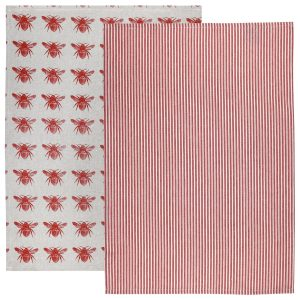 Raine & Humble - Terra Cotta Honey Bee Tea Towel Pack