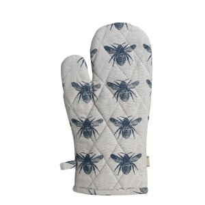 Raine & Humble - Prussian Blue Honey Bee Oven Glove