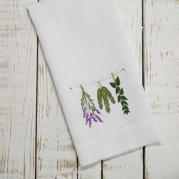 Crown Linen Designs - Herbs Linen Towel