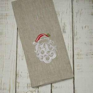 Crown Linen Designs - Santa Claus Linen Holiday Towel