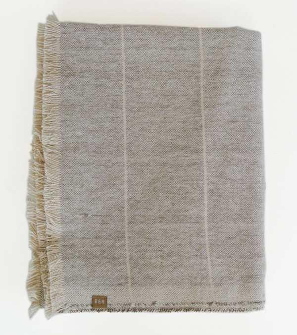Raine & Humble - Preorder Brushed Stone Grey Stripe Throw