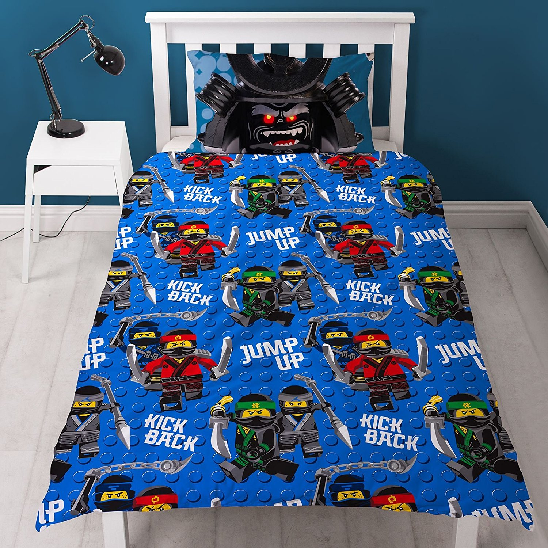 The Lego Ninjago Movie Crew Reversible Panel Single Bed Duvet Quilt Cover Set