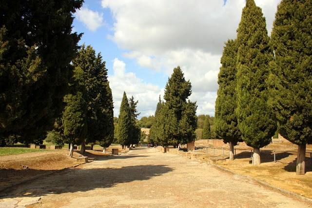 The Roman road, Italica