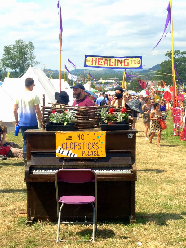Piano at Glastonbury