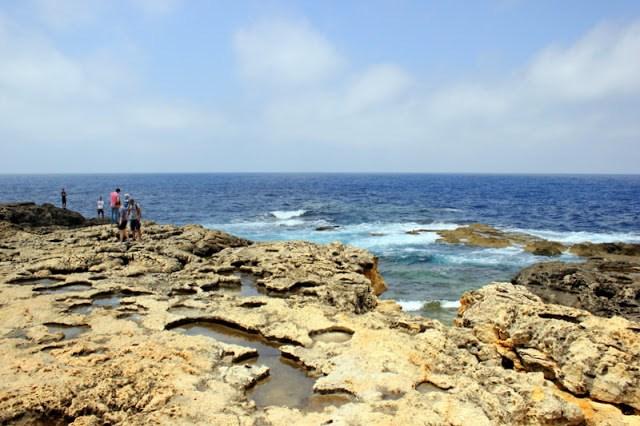 The surrounding sights of the Azure Window, Gozo