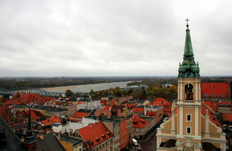 View from Torun's Clock Tower.