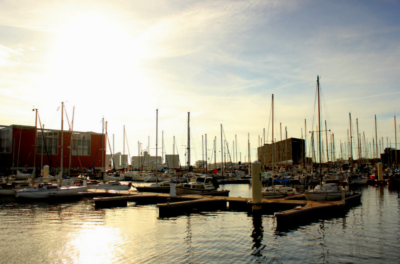 Sailboats Docked In Le Havre
