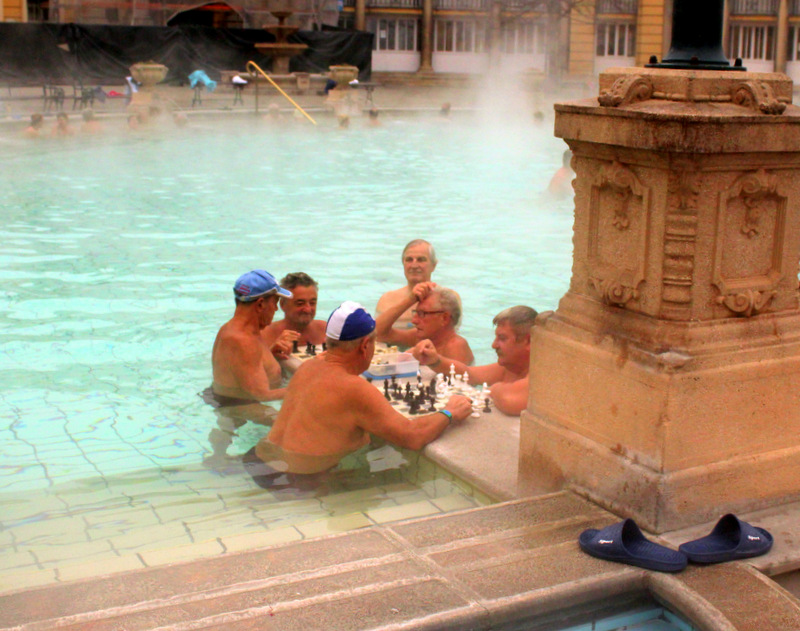 Chess game at the Szechenyi Baths
