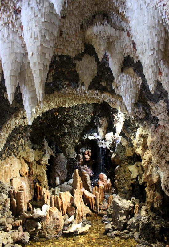 Stalactites inside Crystal Grotto