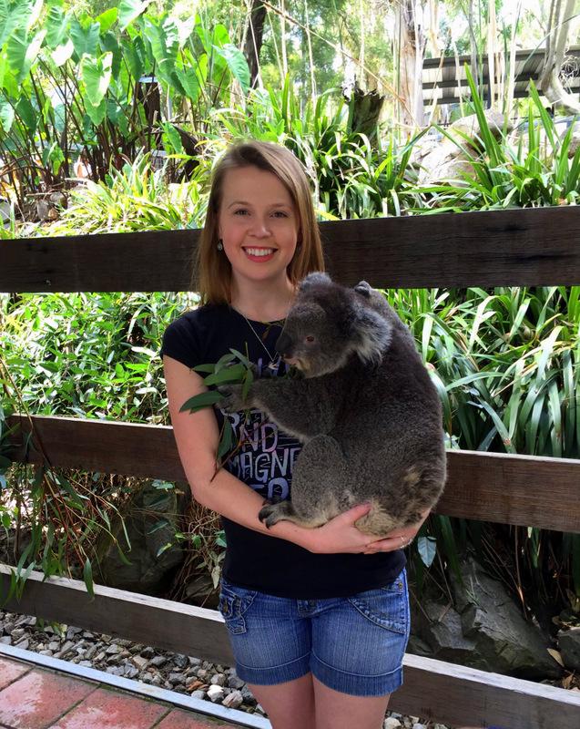 Holding koalas in Adelaide