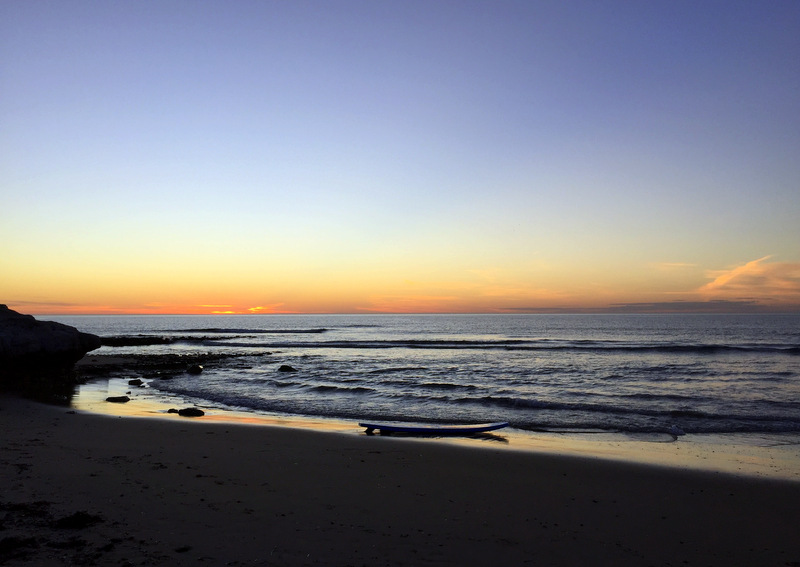 Sunset at Southport beach
