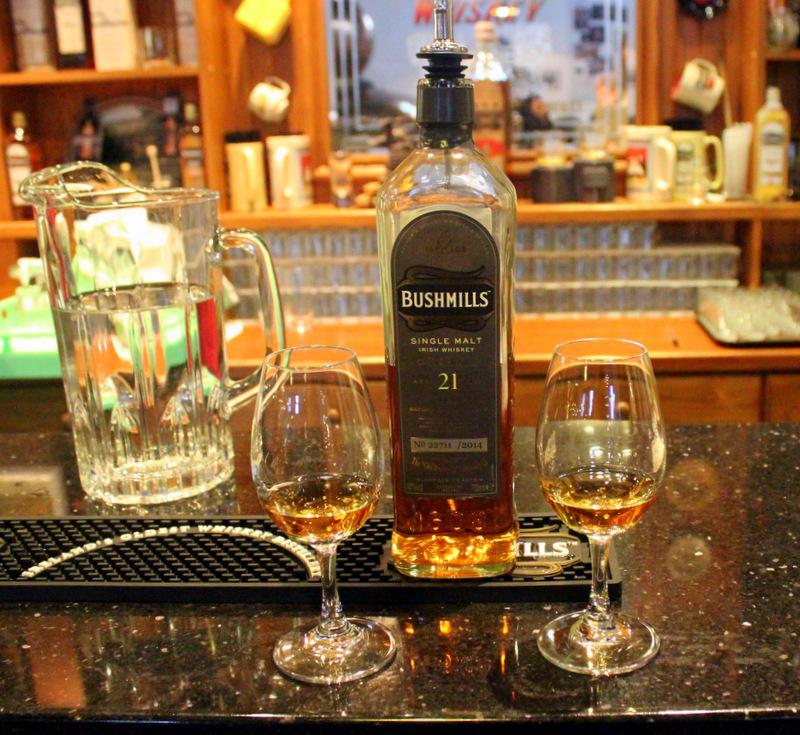 Whiskey tasting at Old Bushmills Distillery