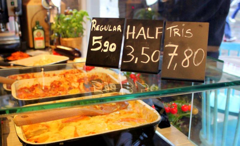 Portion sizes at Mister Lasagna