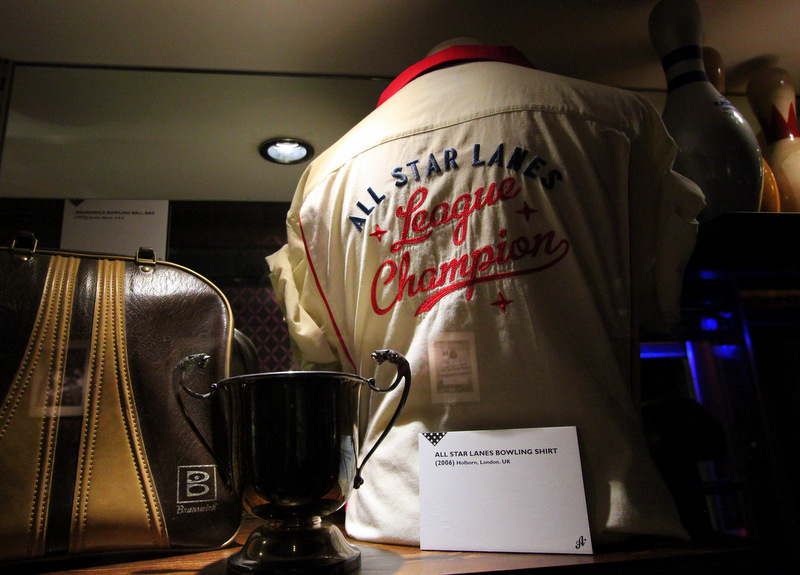 Vintage bowling gear at All Star Lanes, Holborn