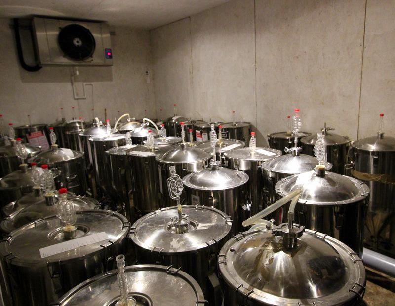 Fermentation room at UBREW