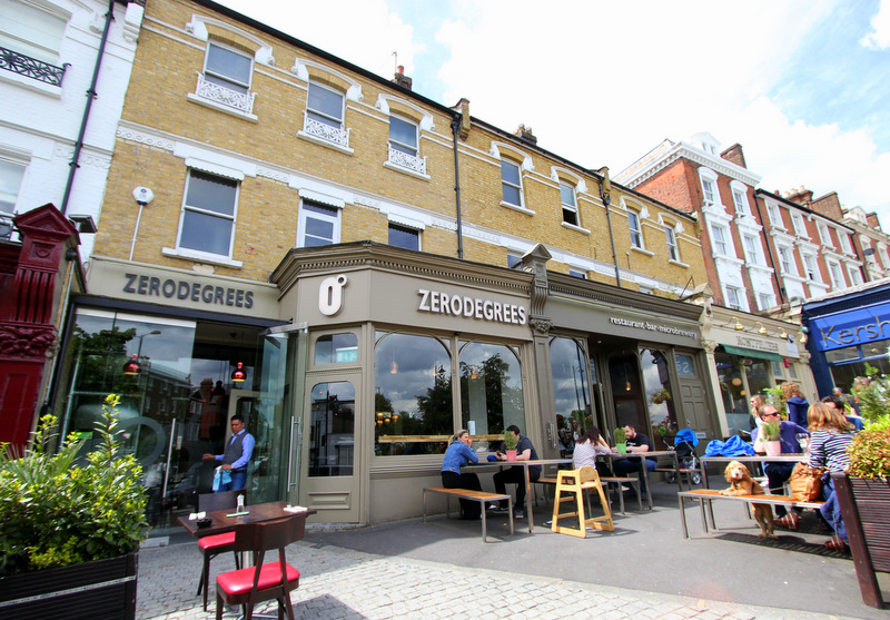 Outside Zerodegrees, Blackheath