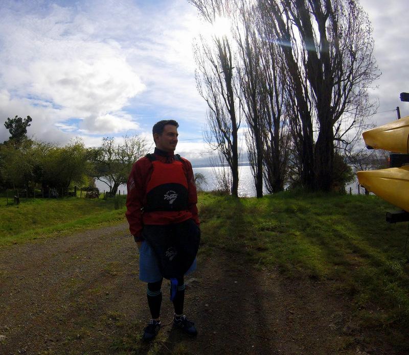 Kayaking gear, Lake Taupo
