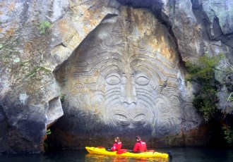 Discovering Lake Taupo's Maori carvings with Canoe & Kayak