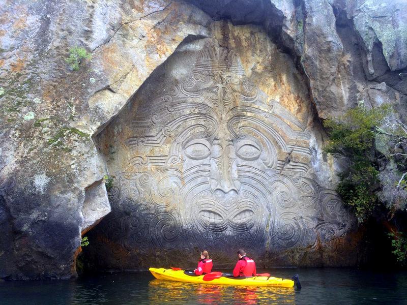 Maori carvings at Lake Taupo