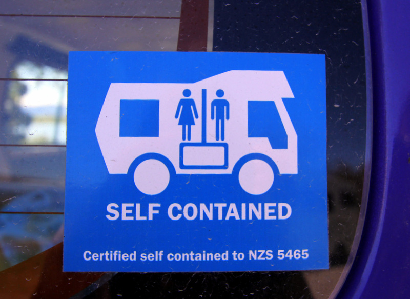 Self-enclosed campervan sticker
