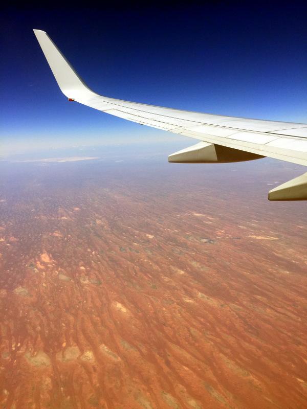 Plane shot of Australian Outback