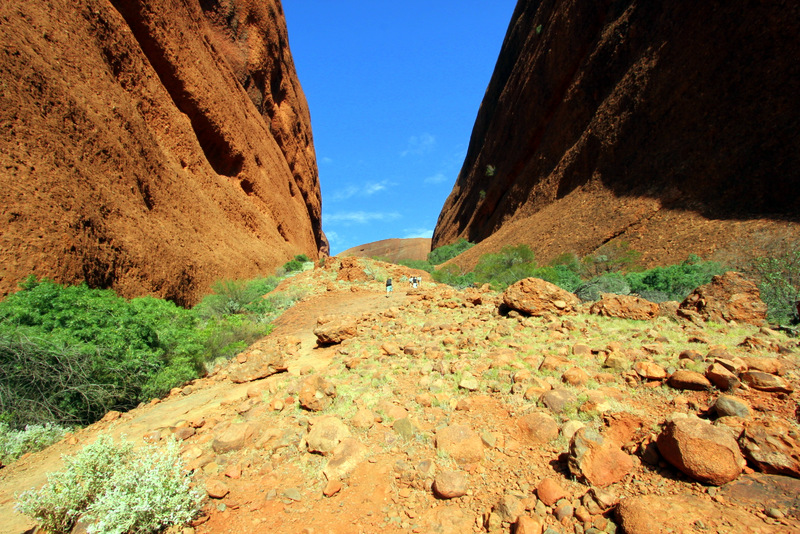 Steep stairs at Kata Tjuta