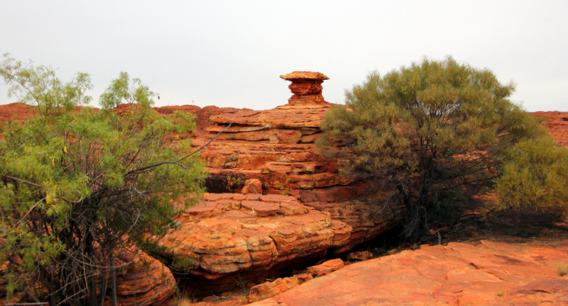 Rock stacks at Kings Canyon