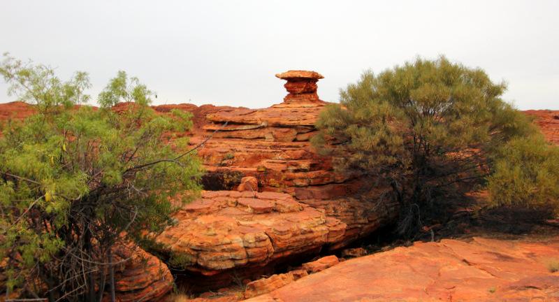 Rock stacks at Kings Canyon