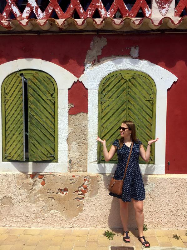Colourful windows in Menorca