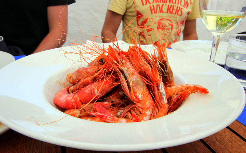 Seafood dishes in Menorca