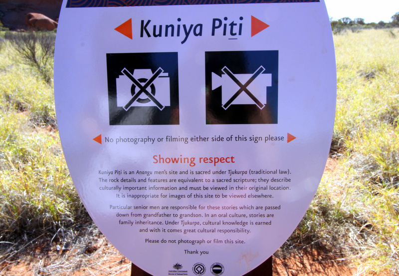 No photo spots at Uluru