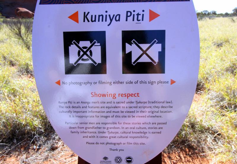 No photo spots at Uluru
