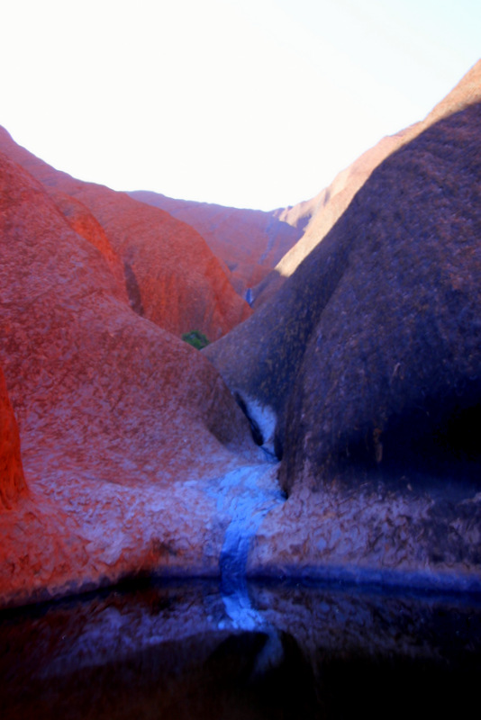 Different colours of Uluru