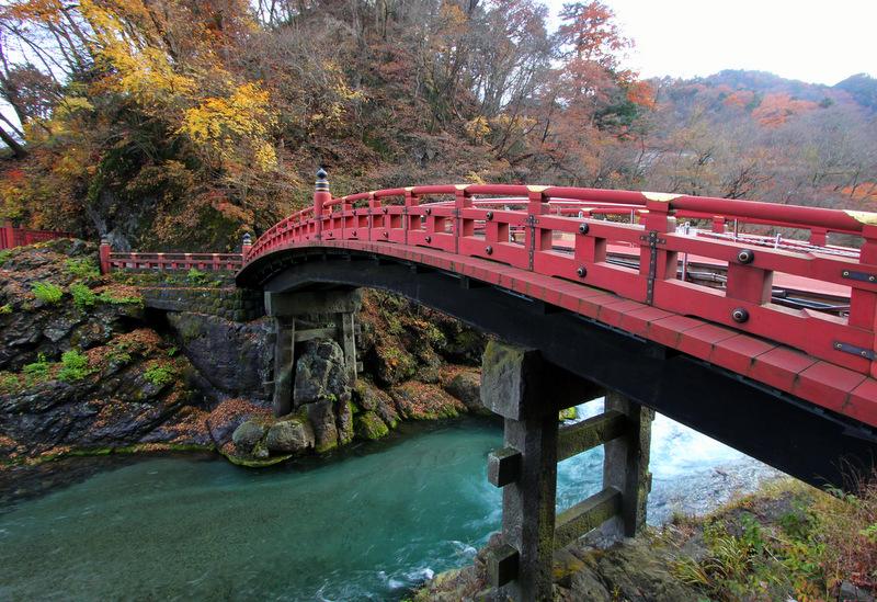 Close up of Shinkyo Bridge, Nikko