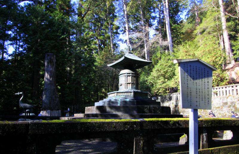 Burial spot of Ieyasu
