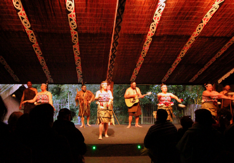 Entertainment at Tamaki Maori Village