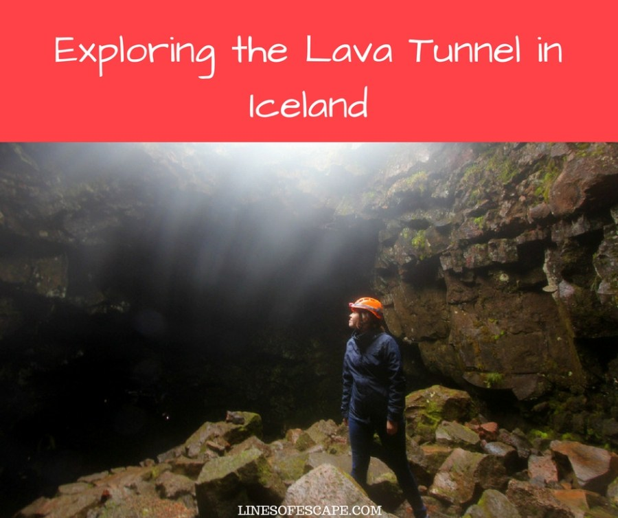 Exploring the Lava Tunnel in Iceland